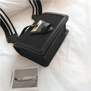 New Tide Shoulder Messenger Triangle Buckle Trend of Fashion Small Square Bag -  BLACK