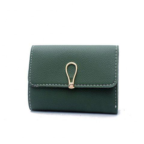 Small Fresh Students Short Section Simple Folding Trend Purse - GREEN