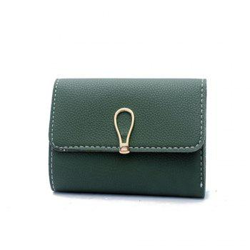 Small Fresh Students Short Section Simple Folding Trend Purse - GREEN GREEN