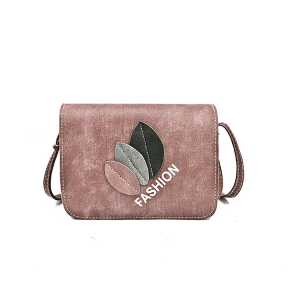 New Leaves Fashion Shoulder Messenger Bag - PINK