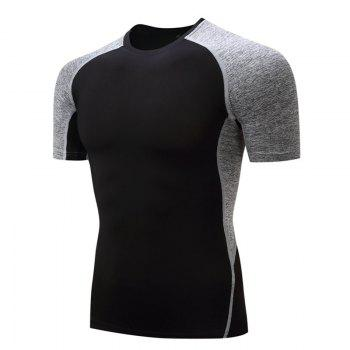 Men's Fitness Gym Sports T-shirt - GRAY GRAY