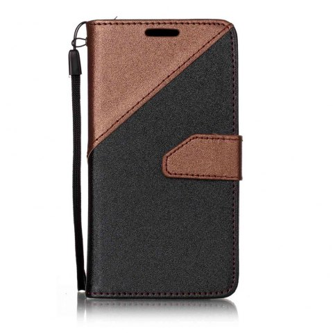 Color Stitching Leather Cover Case for LG K3 - BROWN