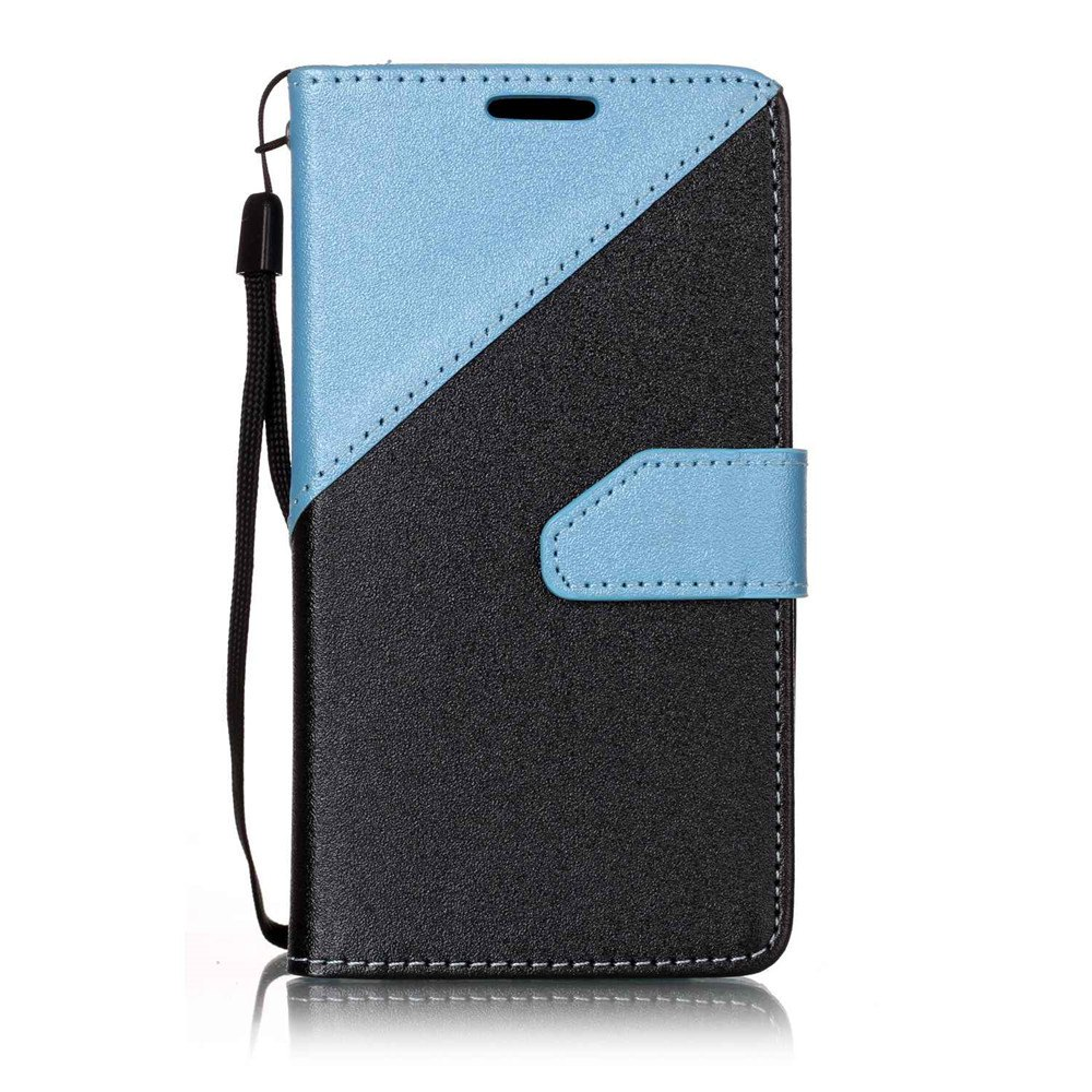 Color Stitching Leather Cover Case for LG K3 - LIGHT BULE