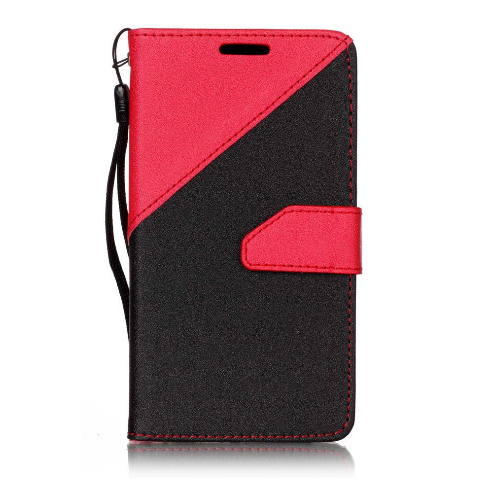 Color Stitching Leather Cover Case for LG K3 - RED