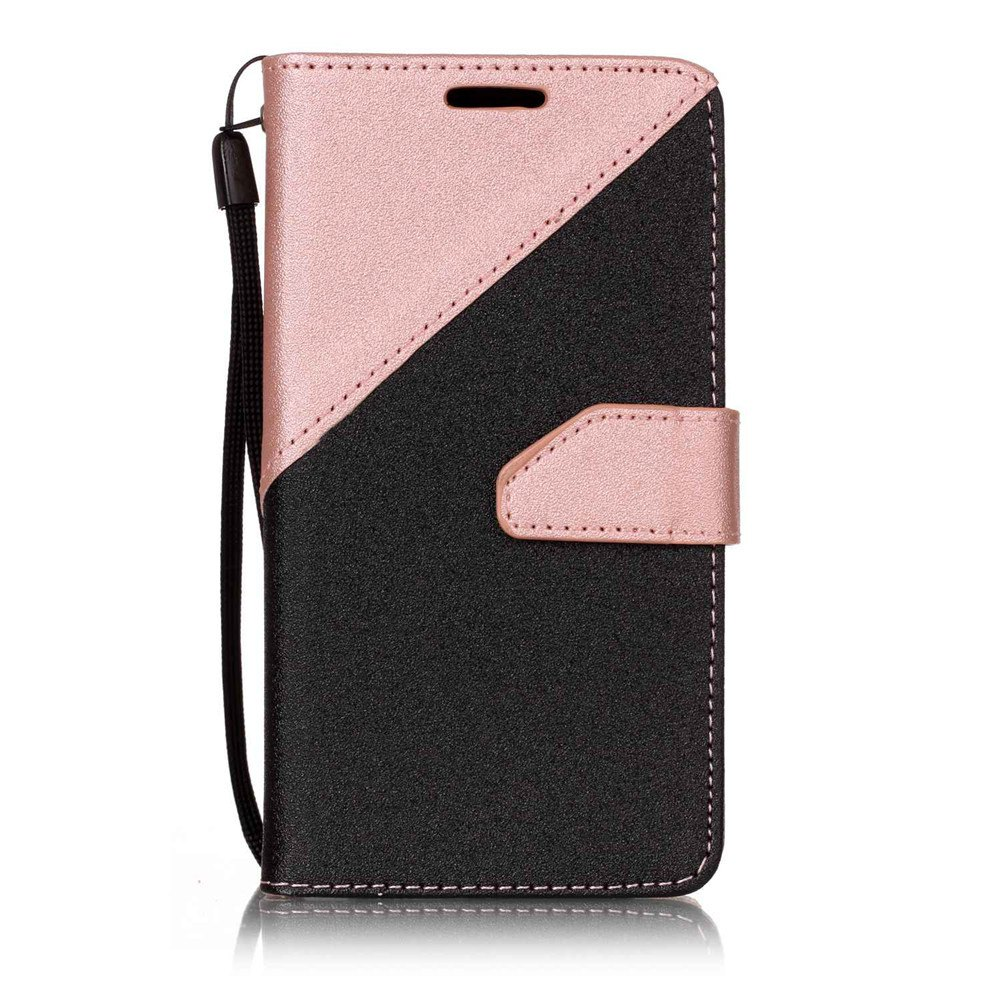 Color Stitching Leather Cover Case for LG K3 - ROSE GOLD