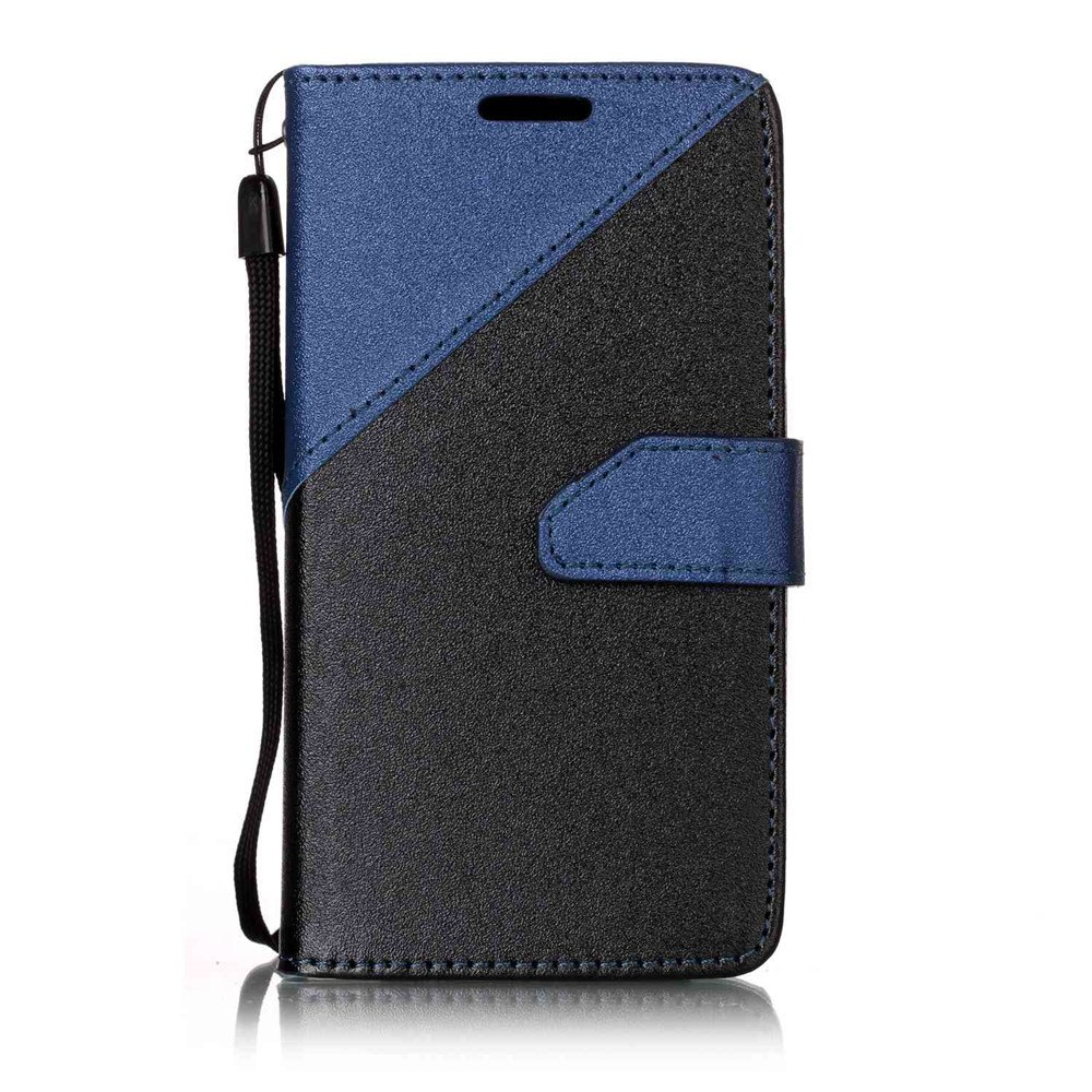 Color Stitching Leather Cover Case for LG K3 - CERULEAN
