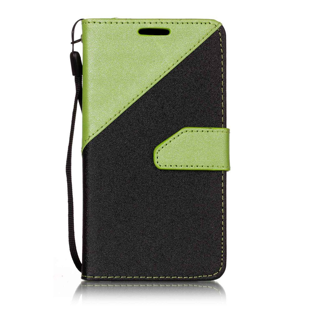 Color Stitching Leather Cover Case for LG K3 - GREEN
