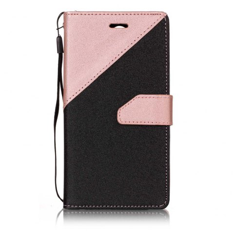 Color Stitching Leather Cover Case for LG K4 - ROSE GOLD