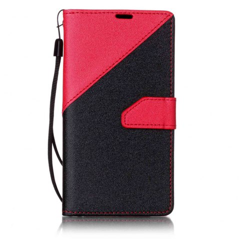 Housse de protection en cuir Color Stitching pour LG K7 - Rouge