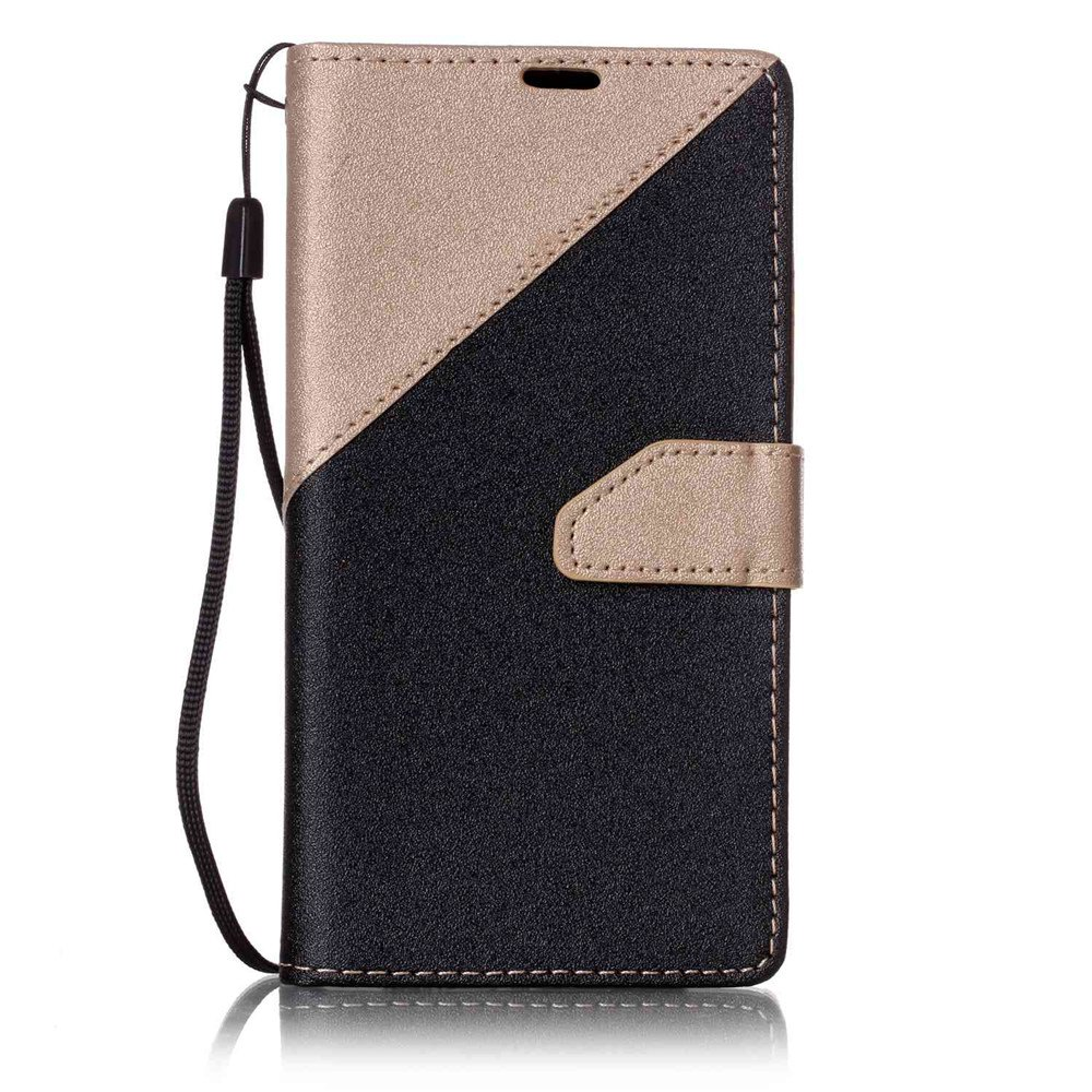 Housse de protection en cuir Color Stitching pour LG K7 - Or