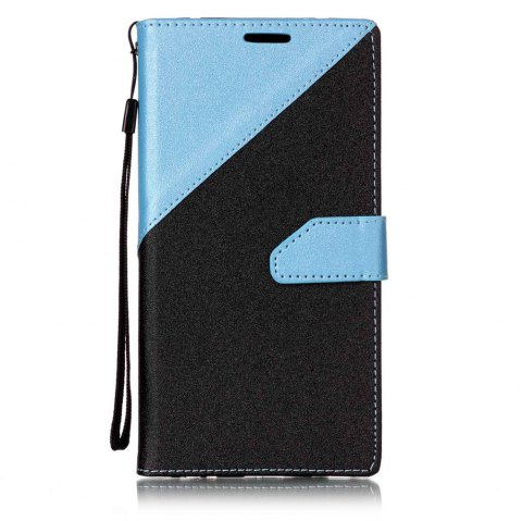 Color Stitching Leather Cover Case for LG V20 - LIGHT BULE