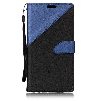 Color Stitching Leather Cover Case for LG V20 - CERULEAN CERULEAN