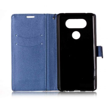 Color Stitching Leather Cover Case for LG V20 -  CERULEAN