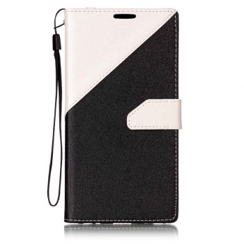 Color Stitching Leather Cover Case for LG V20 - WHITE WHITE