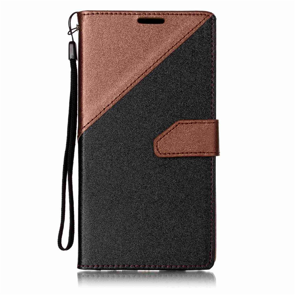 Color Stitching Leather Cover Case for LG V20 - BROWN