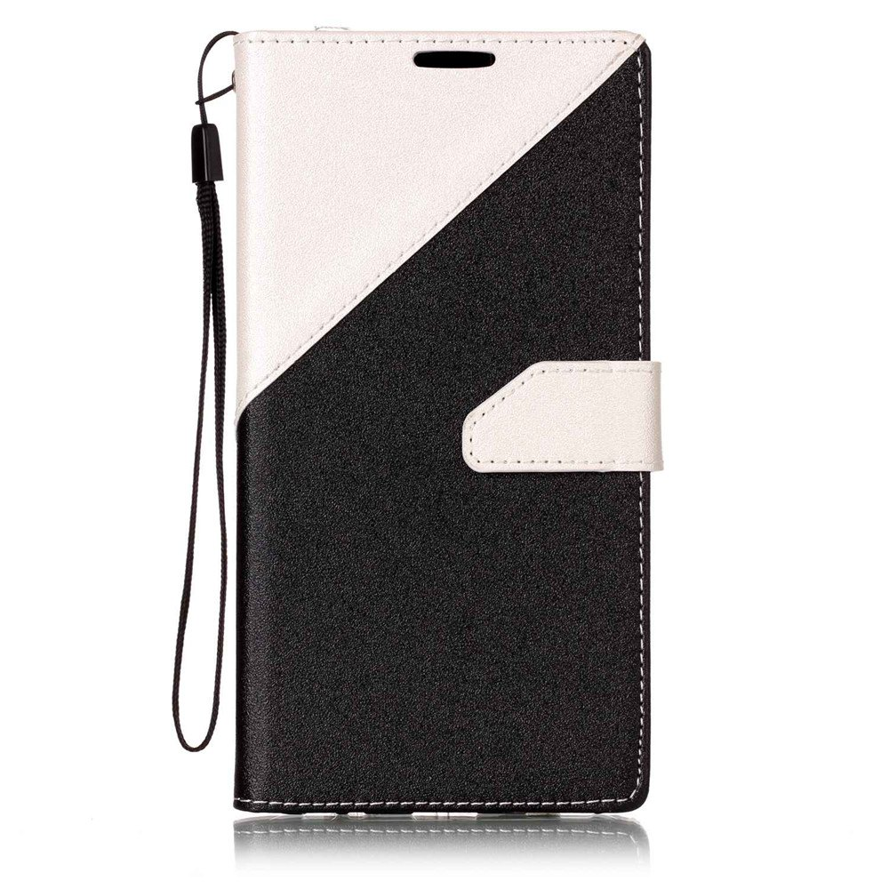 Color Stitching Leather Cover Case for LG V20 - WHITE