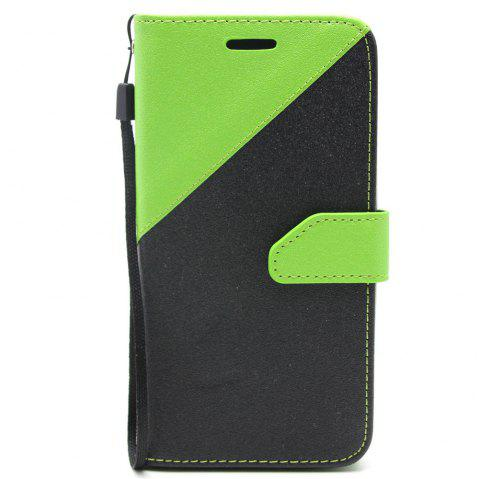 Color Stitching Leather Cover Case for Moto-G5 - GREEN