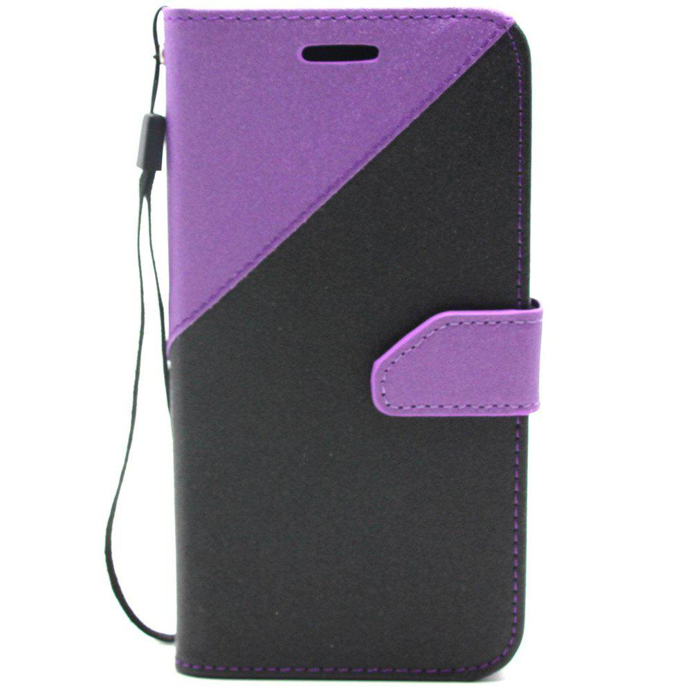 Color Stitching Leather Cover Case for Moto G5 Plus - CONCORD