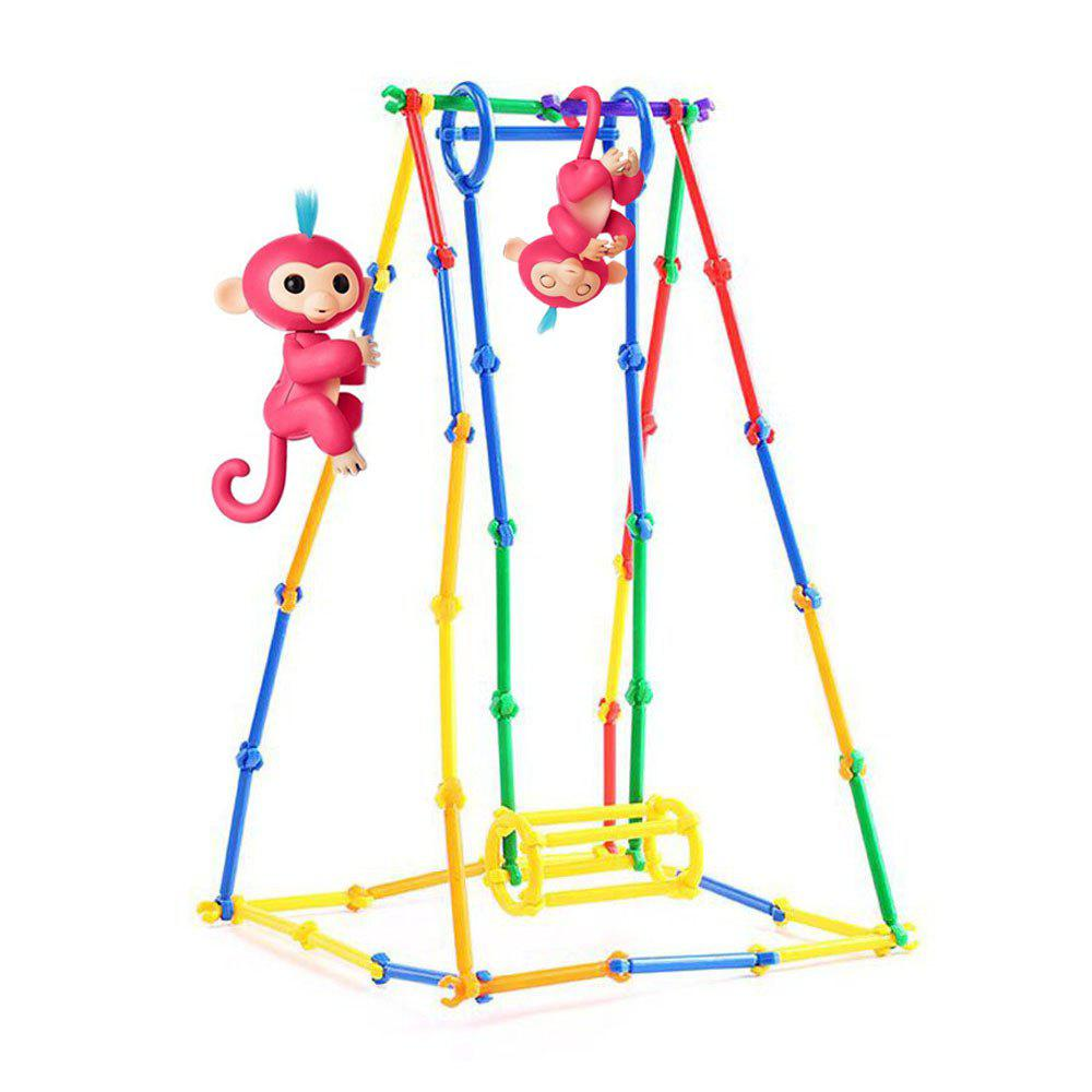 Monkey Support Style Parent-child Family DIY Craft Assembled Model Toys creative kids toys tumbling monkey game falling toy tumbling monkey parent child interactive learning educational toys for child