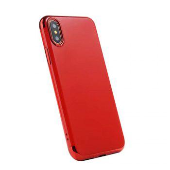 Luxury  Hybrid Hard Plastic Case Ultra Thin and Slim Anti Scratch Matte Finish Cover Case for iPhone X - RED