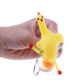 Decompression Toys Laying Egg Hens Funny Relax with Ring - Yellow Fidget Spinner - YELLOW
