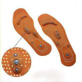 Magnetic Therapy Magnet Health Care Foot Massage Insoles Men / Women Shoe Comfort Pads -  BROWN