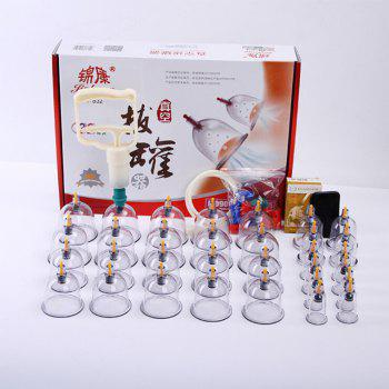Suction Cupping Acupuncture Massage Cupping Therapy Vacuum Cup with Oil 32pcs -  TRANSPARENT