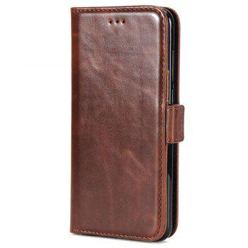 High Grade Crazy Horse Double Fold Leather Case for Huawei Honor 9 - DEEP BROWN DEEP BROWN
