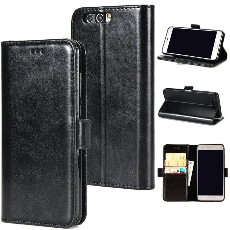 High Grade Crazy Horse Double Fold Leather Case for Huawei Honor 9 - BLACK