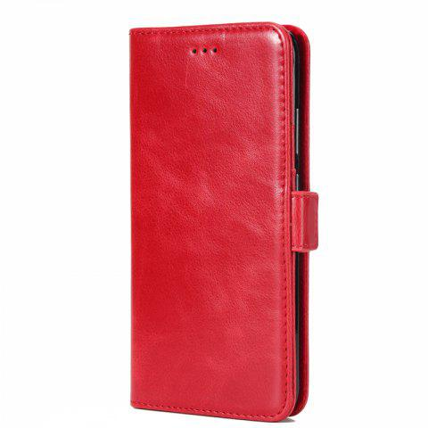 High Grade Crazy Horse Double Fold Leather Case for Huawei Honor V9 - RED