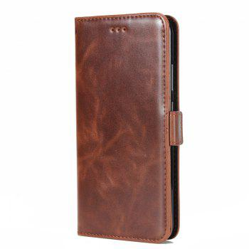 High Grade Crazy Horse Double Fold Leather Case for Huawei Honor V9 - DEEP BROWN DEEP BROWN