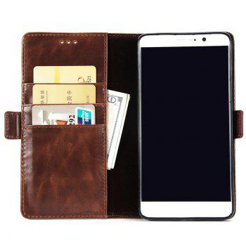 High Grade Crazy Horse Double Fold Leather Case for Huawei Mate 9 -  DEEP BROWN