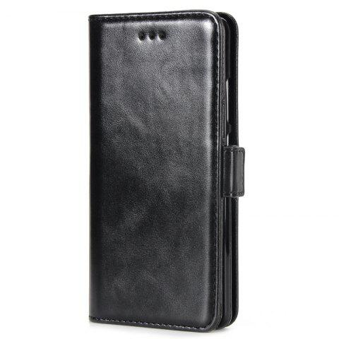 High Grade Crazy Horse Double Fold Leather Case for Huawei P9 - BLACK