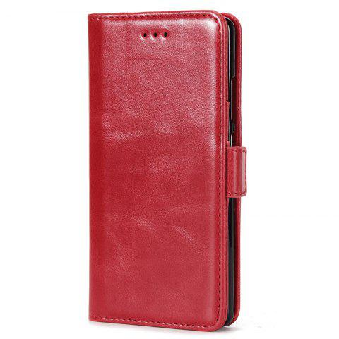 High Grade Crazy Horse Double Fold Leather Case for Huawei P9 - RED