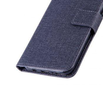 Cotton Pattern Leather Case for Samsung Galaxy S8 Plus - BLACK