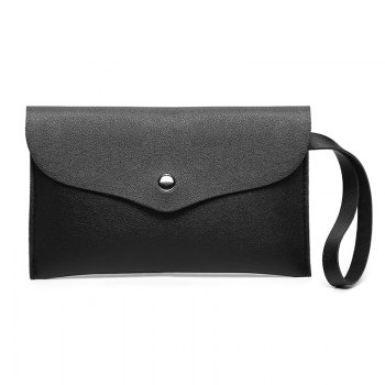 Women Casual Napkin Hand Purse - BLACK BLACK