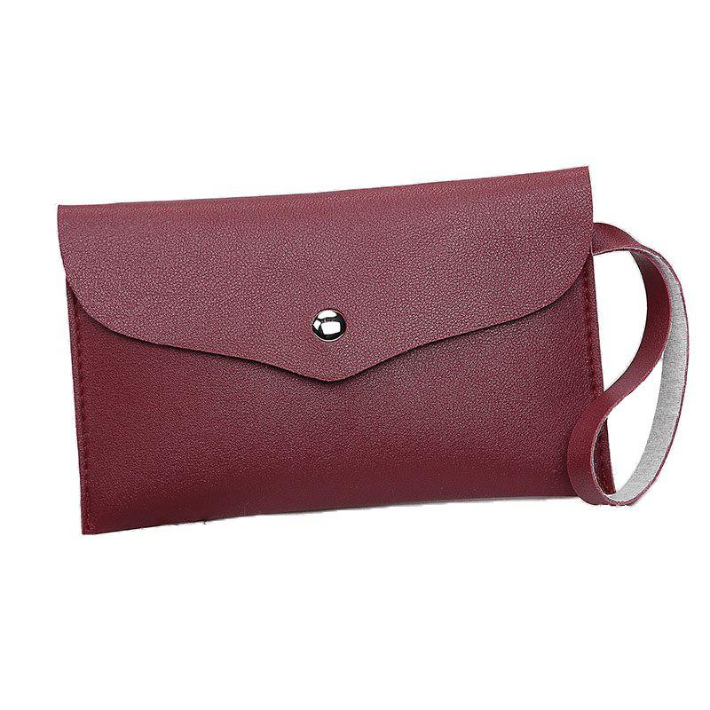 Women Casual Napkin Hand Purse - WINE RED
