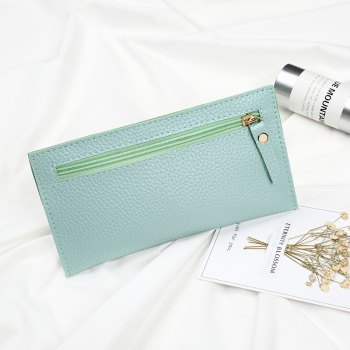 Women Casual Lychee Pattern Colourful Purse - MINT