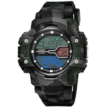 SYNOKE 9438 Trendy Sports Plastic Band Men Watch - CAMOUFLAGE GRAY CAMOUFLAGE GRAY