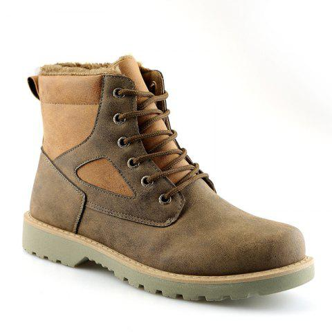 A07 Snowshoe Winter Cotton Boots with Warm Cotton Shoes - GRAY 37