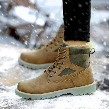 A07 Snowshoe Winter Cotton Boots with Warm Cotton Shoes - KHAKI 35