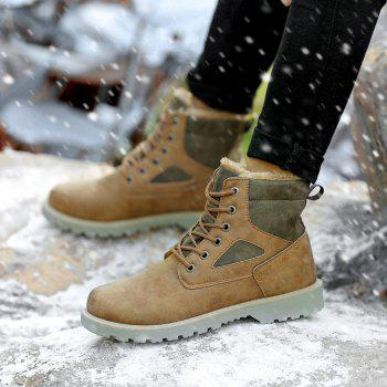 A07 Snowshoe Winter Cotton Boots with Warm Cotton Shoes - KHAKI 36