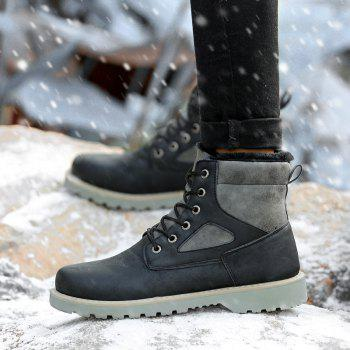 A07 Snowshoe Winter Cotton Boots with Warm Cotton Shoes - BLACK 41