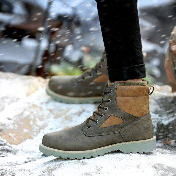 A07 Snowshoe Winter Cotton Boots with Warm Cotton Shoes - GRAY 36