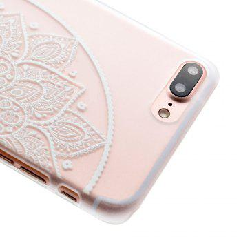 Fashion Relief Ultra Thin Transparent PC Back Cover Case for iPhone 7 Plus / 8 Plus (G) - TRANSPARENT