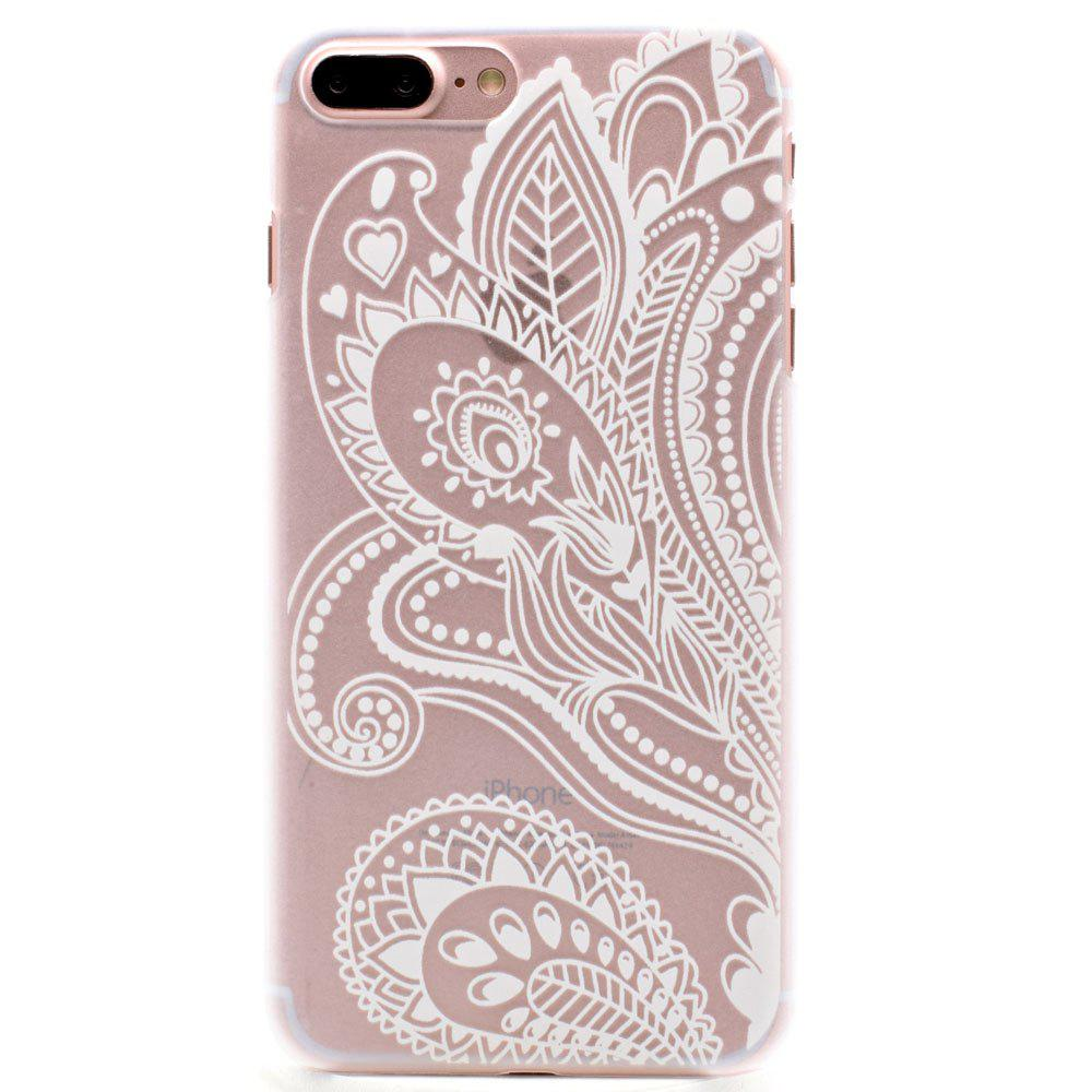 Fashion Relief Ultra Thin Transparent PC Back Cover Case for iPhone 7 Plus / 8 Plus (I) - TRANSPARENT
