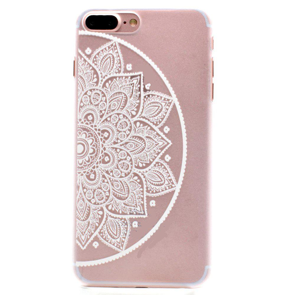Fashion Relief Ultra Thin Transparent PC Back Cover Case for iPhone 7 Plus / 8 Plus (J) - TRANSPARENT