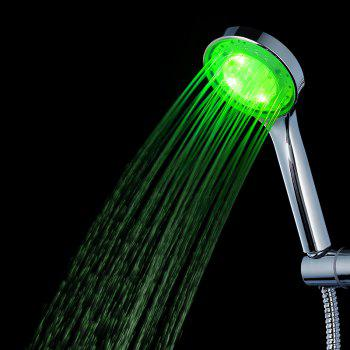 LED Fashionable Dreamlike Shower Head - SILVER