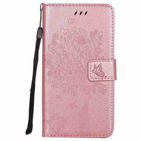 Double Embossed Sun Flower PU TPU Phone Case for ASUS ZenFone ZD552KL - ROSE GOLD