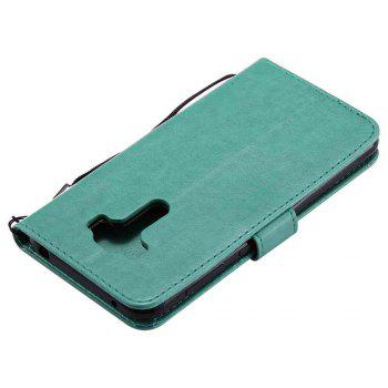 Double Embossed Sun Flower PU TPU Phone Case for ASUS ZenFone ZD552KL -  GREEN